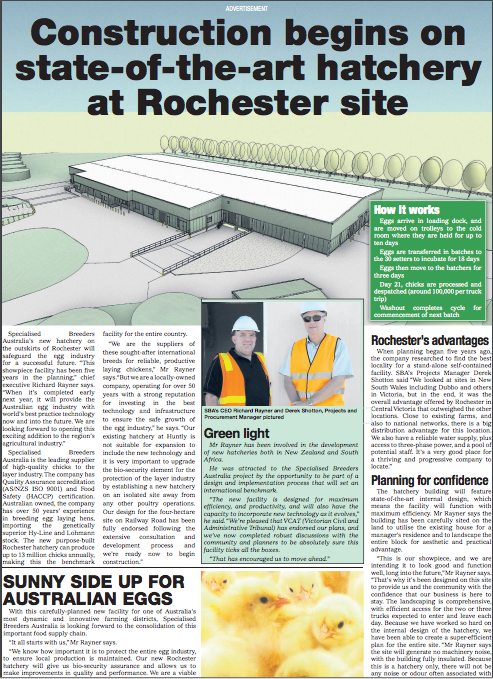 construction begins at Rochester